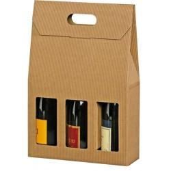 Emballages cadeaux pour 3 bouteilles