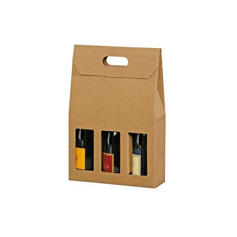 emballages cadeaux pour 3 bouteilles carton de d m nagement boxshop. Black Bedroom Furniture Sets. Home Design Ideas