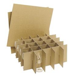 Gläserkreuzschieber für Wellkarton-Boxen Nr. 3 25 Fächer
