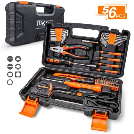 TACKLIFE Malette Outils HHK3B 56 pièces
