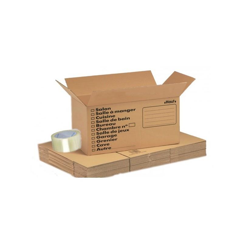pack economy livres carton de d m nagement boxshop. Black Bedroom Furniture Sets. Home Design Ideas